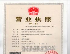 远力磁电三证合一营业执照