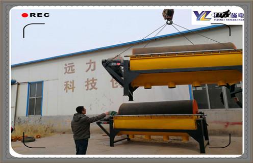 半逆流型稀土永磁筒式磁选机发往云南省用以冶炼厂制造行业